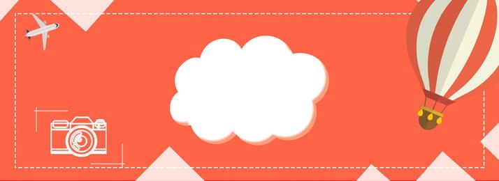 minimalism cartoon wind travel camera, Aircraft, Cloud, Hot Air Balloon Background image