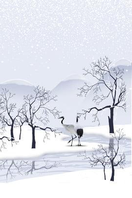 Áp phích cẩu trắng của Morandi Morandi Đơn giản Cao cấp Khí Cấp Khí Trung Hình Nền