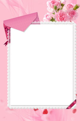mothers day envelope simple carnation , Lace, Ribbon, Pink Background image