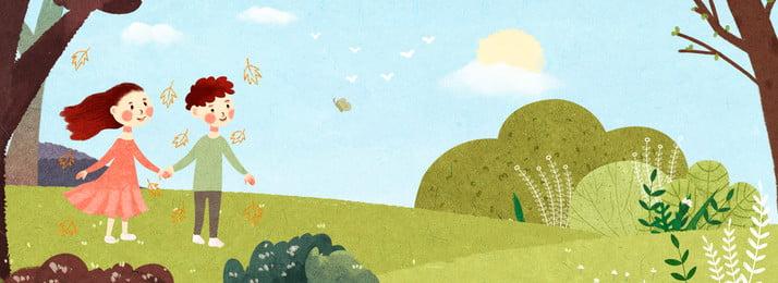 野生の旅行カップルの国民日旅行の背景 国民の日 第11回ナショナルデー 旅行する ワイルド グリーン カップル 新鮮な 木々 花 ポスター バナー 国民の日 第11回ナショナルデー 旅行する 背景画像