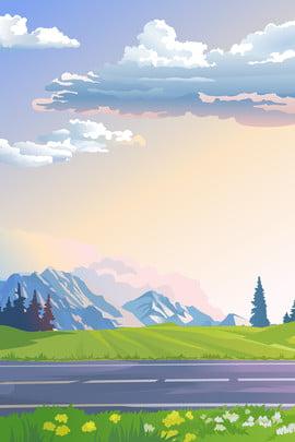 estrada natureza paisagem neve montanha fundo natureza viagem rodovia férias viagem montanha da neve lazer poster plano , Da, Fundo, De Imagem de fundo