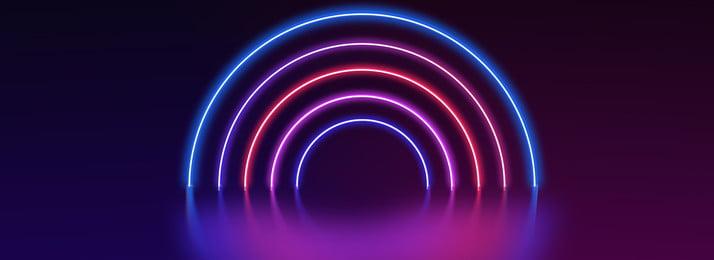 neon hitam kecerunan cahaya tiub kesan latar belakang neon kecerunan hitam kesan lampu latar, Belakang, Geometri, Talian imej latar belakang