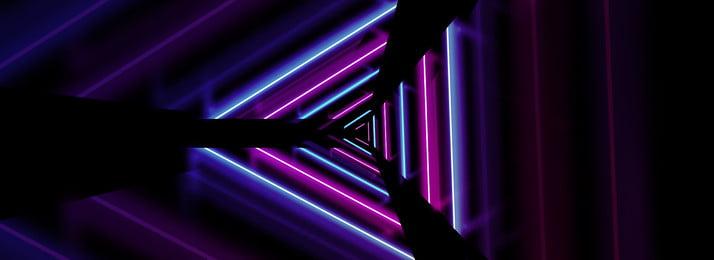 Phong cách neon hiệu ứng không khí nền đen Neon Thời trang Khí quyển Đường Neon Thời Trang Hình Nền