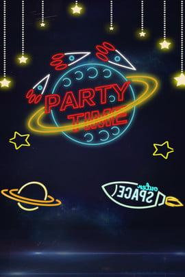 Không gian hành tinh neon quảng cáo nền Neon Hành tinh Không gian Quảng Cảnh Tinh Không Hình Nền