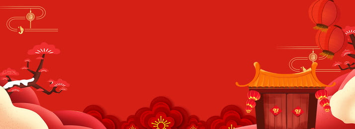 New Year New Year Chinese Style Red, Three-dimensional Flower, Red Flower, Chinese Style New Year Material, Background image