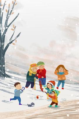 新年戶外一家人玩耍出行背景 新年 戶外運動 出行 家人 人物 鞭炮 玩耍 插畫風 新年 戶外運動 出行背景圖庫