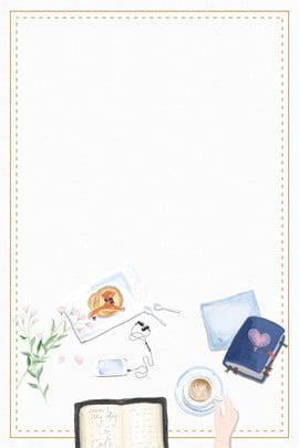 fundo de cartaz de fronteira de chá da tarde caderno literário fresco fronteira café negócio sobremesa alimento poster finanças , Fundo De Cartaz De Fronteira De Chá Da Tarde, Caderno, Literário Imagem de fundo