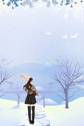 नवंबर हेलो फ्रेश स्नो गर्ल पोस्टर नवंबर नवंबर में नमस्कार सर्दी सर्दी ठंड बर्फीला , दृश्य, लड़की, में पृष्ठभूमि छवि
