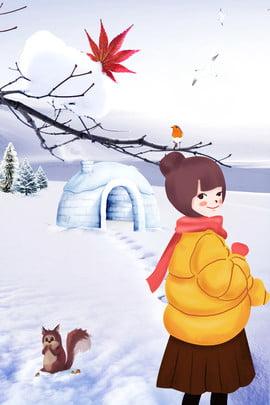 cartaz do esquilo da menina da casa de novembro olá poster novembro olá em novembro inverno inverno frio dia , Em, Novembro, Inverno Imagem de fundo