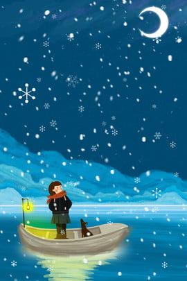 olá! poster fresco da menina do cruzeiro da noite novembro olá novembro inverno inverno branco cena de neve floco , Fundo, Banner, Novembro Imagem de fundo