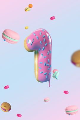 number 1 opening countdown 3d , Donut, Blue, Ad Background image