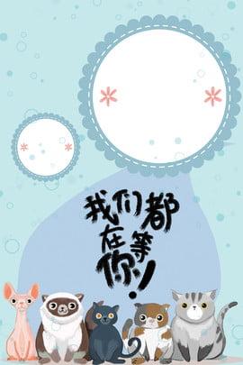 寵物店合成背景海報 物 寵物狗 卡通 線條 邊框 底紋 寵物店海報 創意 合成 , 物, 寵物狗, 卡通 背景圖片