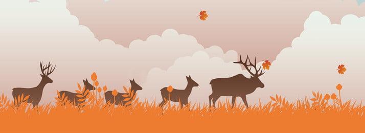नारंगी जंगली जानवर प्रवास पृष्ठभूमि नारंगी घास का मैदान जंगली पशु माइग्रेट पृष्ठभूमि सजावट स्वाभाविक, से, बादल, का पृष्ठभूमि छवि