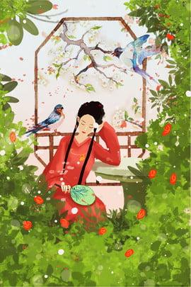 पैलेस कोर्ट हाथ बिच्छू कार्टून पोस्टर खींचा महल किंग पैलेस चीनी शैली साहित्य , पैलेस कोर्ट हाथ बिच्छू कार्टून पोस्टर खींचा, और, फूल पृष्ठभूमि छवि