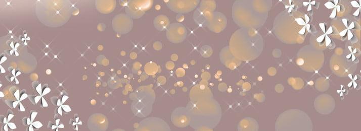 Lãng mạn hoa biên giới poster nền Hoa cắt giấy Trắng Vàng Lấp Giản Lãng Sáng Hình Nền