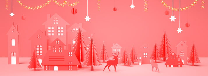 Áp phích giáng sinh màu hồng làm theo phong cách cắt giấy cắt giấy màu hồng giáng, Áp Phích Giáng Sinh Màu Hồng Làm Theo Phong Cách Cắt Giấy, áp, Áp Ảnh nền