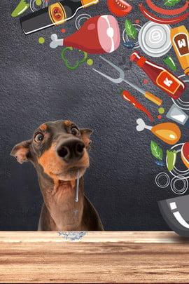 創意合成寵物擬人化 寵物 食物 黑板 寵物狗 桌面 擬人化 合成 創意 , 創意合成寵物擬人化, 寵物, 食物 背景圖片