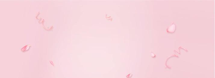 女性製品のバナーの背景 花びら リボン ピンク グラデーション 可愛い 婦人服 化粧品 健康と美容 化粧 しあわせ 暖かい 可愛い, 花びら, リボン, ピンク 背景画像