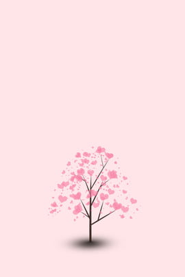 pink background love tree express picture 520 , Confession Day, Minimalistic Background, Pink Romance Background image