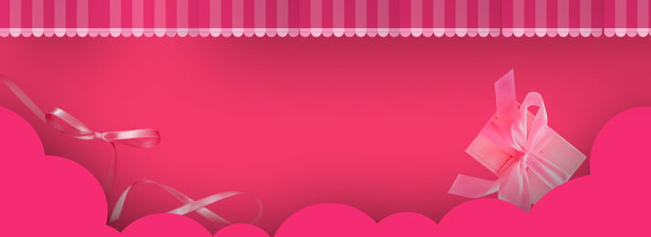 pink birthday paper cutting curtain, Gift, Ribbon, Simple Background image