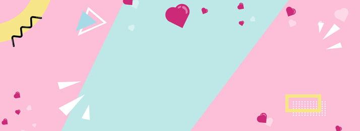 핑크 만화 배너 포스터 핑크색 만화 다양성 아이콘 신선한 배너 포스터, 핑크 만화 배너 포스터, 핑크색, 만화 배경 이미지