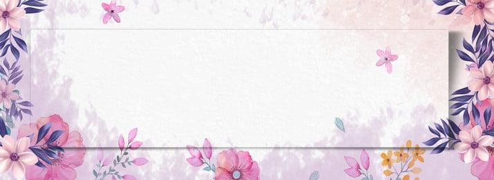 復古清新紅色手繪花 粉紅 花 手繪 卡通 復古 五彩 海報, 復古清新紅色手繪花, 粉紅, 花 背景圖片