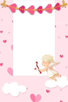 Pink Fresh Float Love, Cloud, Tanabata, Valentines Day, Background image