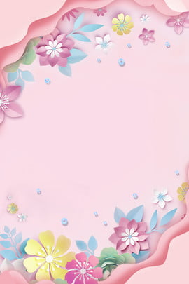pink fresh three dimensional flower warm , Summer, Beauty Makeup, Summer Beauty Background image