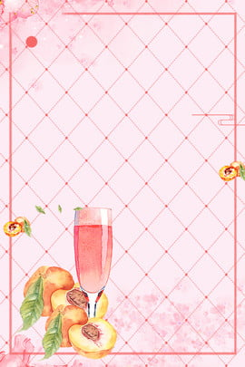 pink peach apple juice fruit juice , Fresh, Plaid Background, Plaid Simplicity Background image