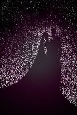 pink romantic starlight silhouette , Gradient, Wedding, Propose Background image