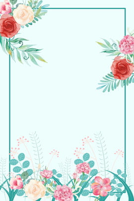 plant flowers border background flower , Beautiful Flower Border, Frame, Wedding Minimalist Invitation Background image