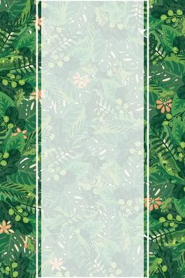 清新簡約植物元素海報 植物 夏日 涼爽 小花 簡約 文藝風 夏日旅游海報 , 清新簡約植物元素海報, 植物, 夏日 背景圖片