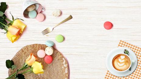 アフタヌーンティーデザート生鮮食品 ポスター アフタヌーンティー 新鮮な 文学 デザート 食べ物 食べ物 コーヒー 飲み物, ポスター, アフタヌーンティー, 新鮮な 背景画像