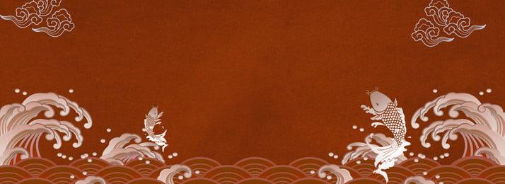 trung quốc phong cách retro poster nền banner Áp phích bối cảnh ukiyo e phong, Phích, Bối, Quốc Ảnh nền