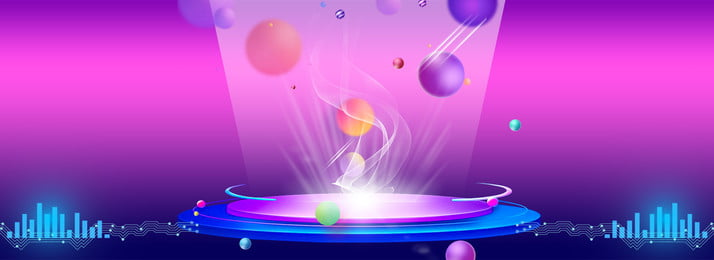 purple cool lighting effect stage, Carnival, Banner, Electric Appliance Background image