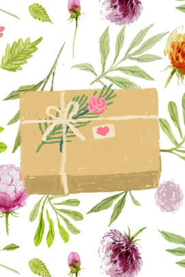 trung quốc ngày valentine hộp quà vẽ tay quảng cáo nền lễ hội qixi quà , Qixi, Quà, Quà Ảnh nền