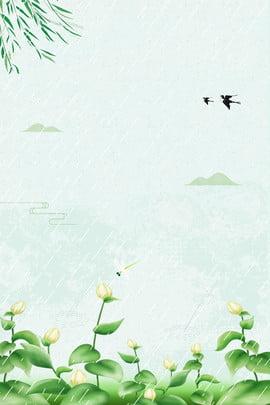 Willow Swallow Rain Hình Nền