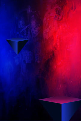 Red Blue Simple Red And Blue, Color Matching, Gradient, Light Fog, Background image