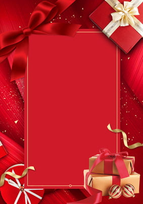 red gift box gift box festival , New Year, Gift, Red Background image
