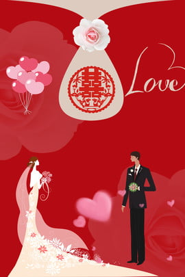 red marry love invitation background , Couple, Wedding Dress, We Are Getting Married Background image