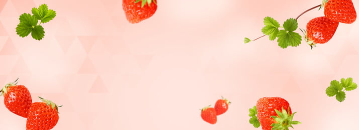 red pink fresh fruit theme, Strawberry, Banner, Carousel Map Background image