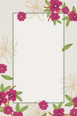 hoa khung ảnh tối giản nền retro tuyên truyền phong cách , Nhất, Hồng, Áp Ảnh nền