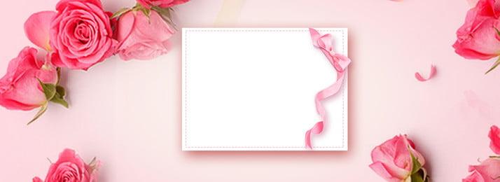 칠석 핑크 로맨틱 로즈 배경 배너 낭만주의 핑크색 칠석 장미 배경 장미 꽃잎 아름다운 발렌타인 데이, 데이, 칠석 핑크 로맨틱 로즈 배경 배너, 낭만주의 배경 이미지