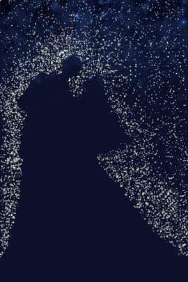 romantic starlight silhouette propose , Wedding, Bridegroom, Bride Background image