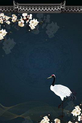 崇陽祭り中国の古典的な青いクレーン広告の背景 うわさ ダブルナインスフェスティバル 中華風 クラシック ブルー クレーン 広告宣伝 バックグラウンド 中国の背景 中華風 , うわさ, ダブルナインスフェスティバル, 中華風 背景画像