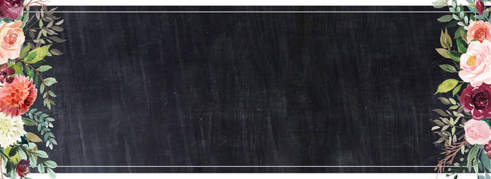 fundo de quadro negro de flores temporada aberta temporada de abertura simples flores campus quadro, Temporada, Abertura, Simples Imagem de fundo