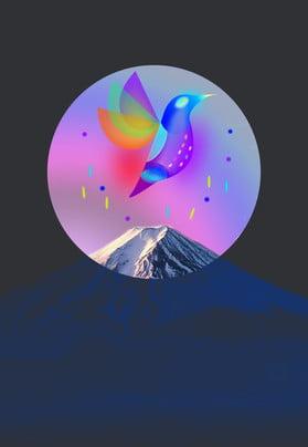 Sense Breathable Superimposed Decoration, Mountain Peak, Poster Background, Promotional Background, Background image