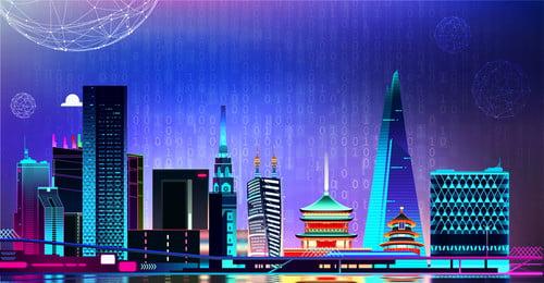 poster triển lãm nhập khẩu thượng hải triển lãm thượng, Nghệ, Dây, Hải Ảnh nền