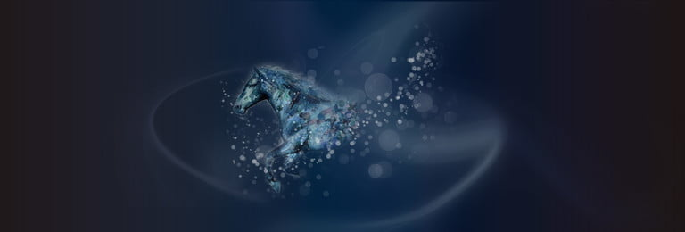 Simple Atmosphere Black Gradient, Watercolor, Animal, Horse, Background image