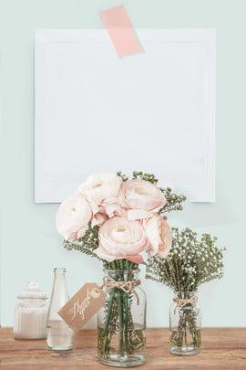 simple flower vase invitation background , Invitation Background, Fresh Minimalist Background, Flower Background Background image